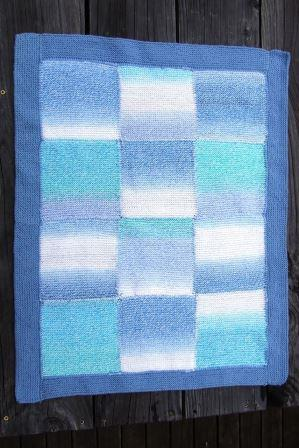 My first knitting project - a baby blanket for my nephew.