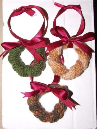 Christmas wreath decorations.
