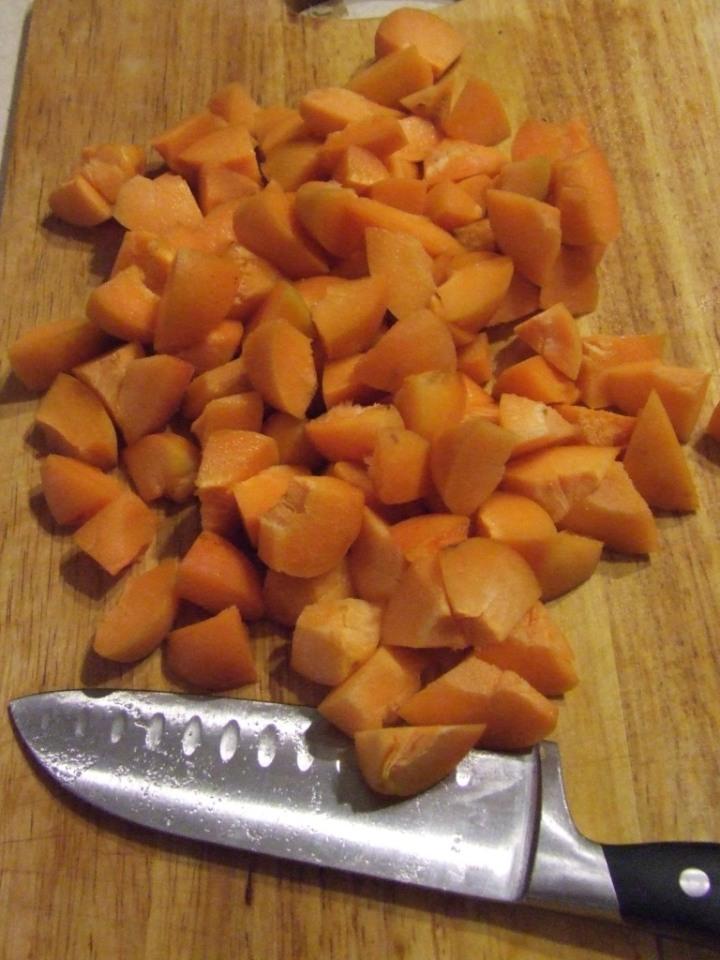 Chopped apricots