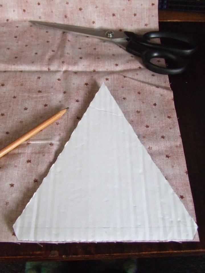 Cardboard bunting template
