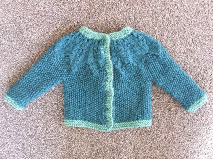 'Finished' cardigan