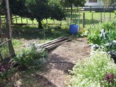 Awaiting vege bed #2. The chicken fence needs to be moved first.