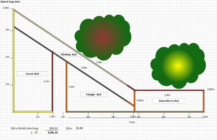 Vege Garden  Angle Bed Plan