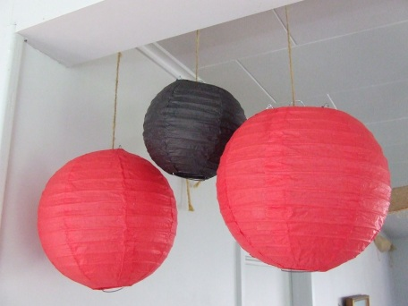 Paper lanterns are more environmentally friendly than balloons and can be re-used.