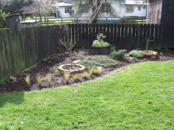 The herb garden even got weeded.