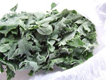 Frozen kale.