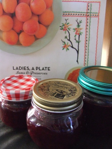 The Indian Plum Chutney recipe made these jars, plus another 500ml one, plus half a gold-lidded one. So specific...