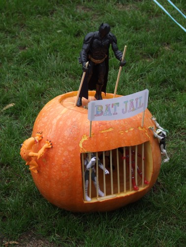 How could anyone compete with a pumpkin featuring Batman?