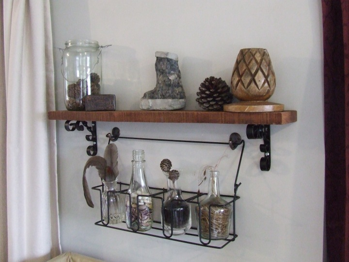 Rustic shelf feature