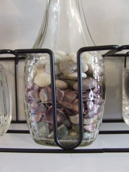 Coloured stones and shell pieces collected from various places around the country.