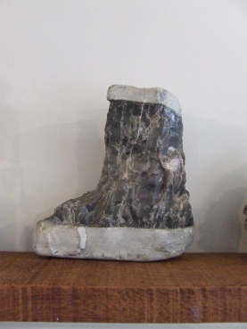 My famous gumboot rock, found on the rocky beach of Kekerengu in the South Island.