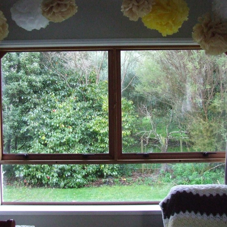 The windows in The Little Fulla's room are now almost clean enough to eat off.