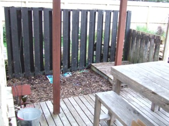 The wood pile is gone!