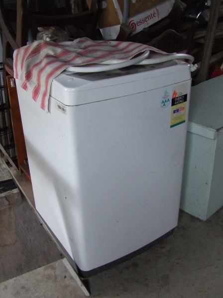 I was going to try and sell our old, smaller washing machine on Trade Me, but now I'm pondering the possibility of turning into a chicken plucker. I feel an investigation coming on.