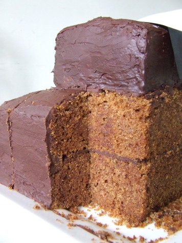 It was a gingernut cake with chocolate frosting. All dairy-free and gluten-free.
