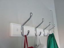 New hooks for our bedroom door.