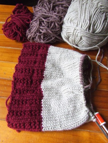 My knitted stocking is underway. For next Christmas.