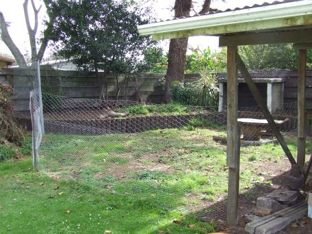 The pen was finished with fencing.