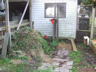 The Weedpost Pile started off as a place to chuck some of the masses of weeds.