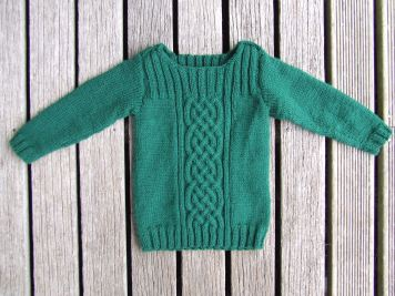 The Little Fulla's never-ending green jersey found an end after all. It's what hogged most of my somewhat sparse knitting time last year.