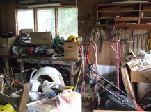 The garage is a certifiable mess. Let's do something about that.