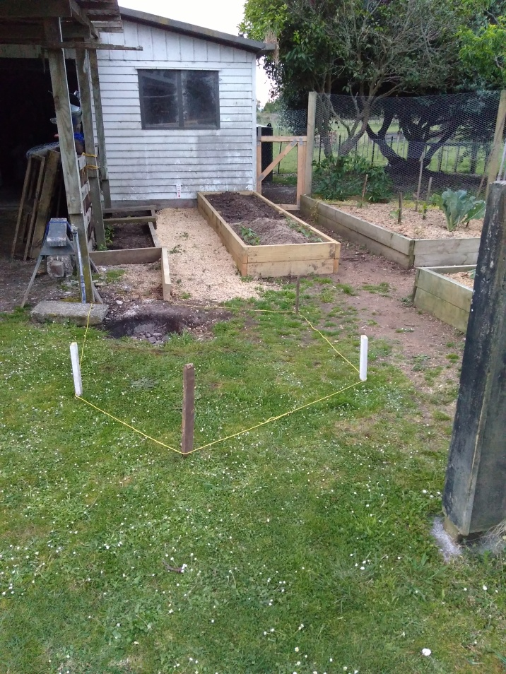 Another vege bed is born and more are being planned.
