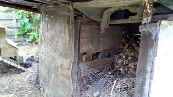 There is a lot of wood in this woodshed. So many wheelbarrow trips.