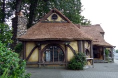 The Hobbiton-style information centre in Matamata.
