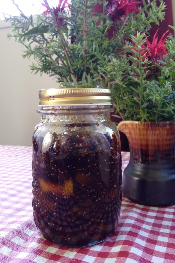 One jar of fig chutney. Don't worry, little jar, you'll have some friends soon.