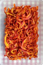 Dehydrated 'Alma Paprika' capsicums.
