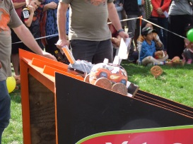 The Pumpkin Racer sets off to win its debut race.