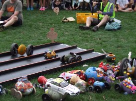 The Pumpkin Racers came in many forms, speeds and directions of movement.