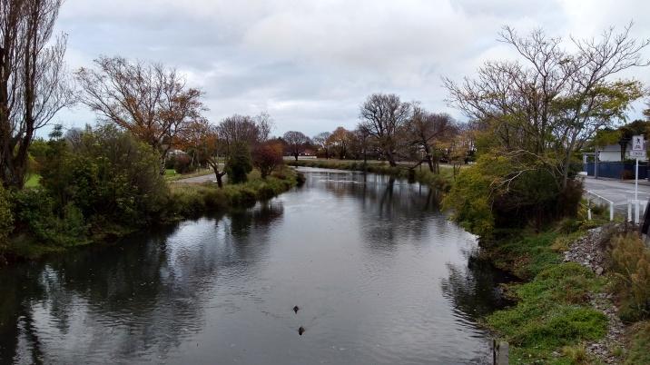 River views from a bridge.