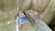 New wooden roost holders for the main coop.