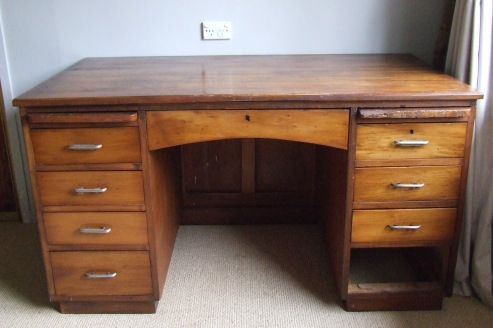 I am very excited about my new, old craft desk.