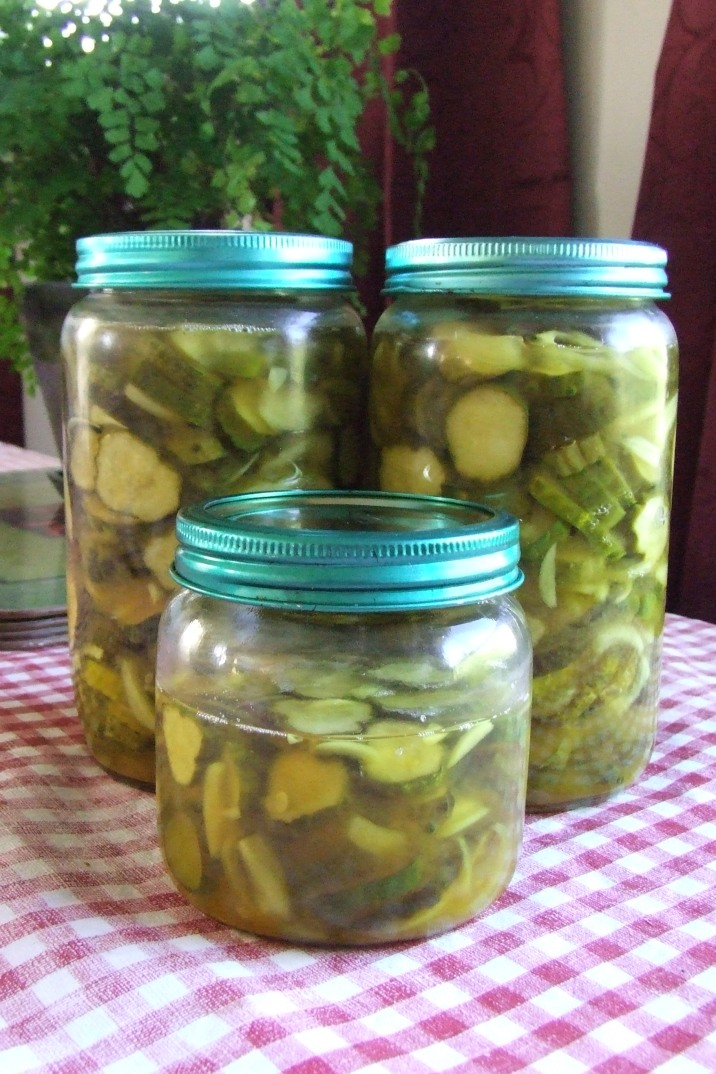 A small batch of pickled gherkins.