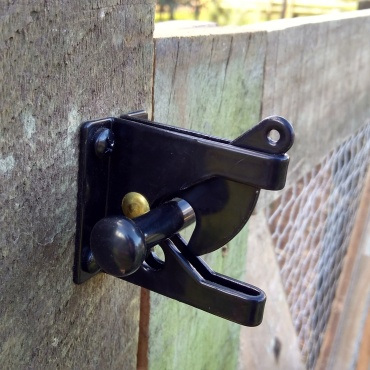 This snap latch was a good option.
