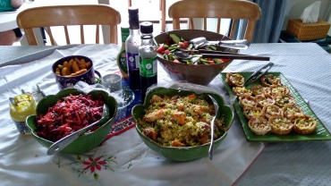 A bunch of adults can whip up a good spread: Salads and savouries...