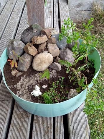 Our Easter garden.